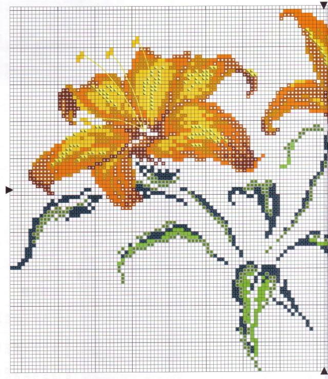 Схема для вышивки крестом лилия 57