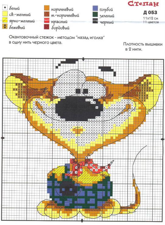 Подробные схемы вышивки крестом
