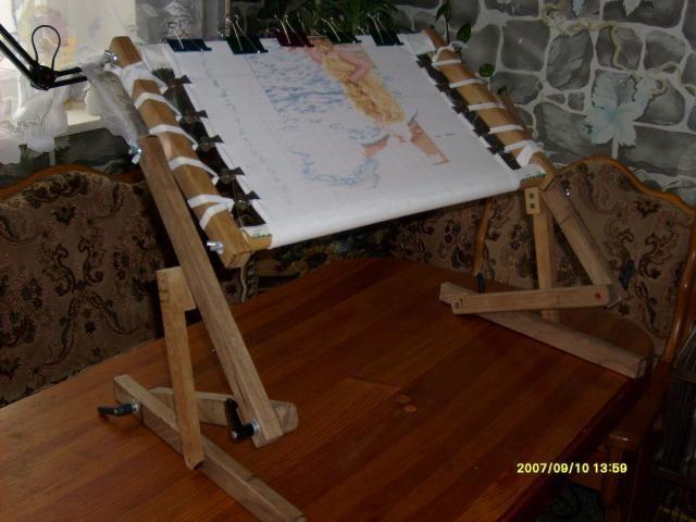 Диванный станок для вышивания своими руками чертеж