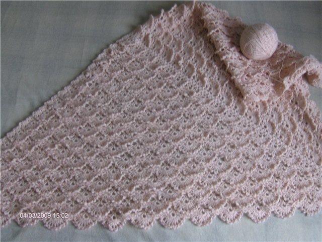 Free Crochet Shawl Patterns Australia : Crocheted triangular shawl, free crochet patterns