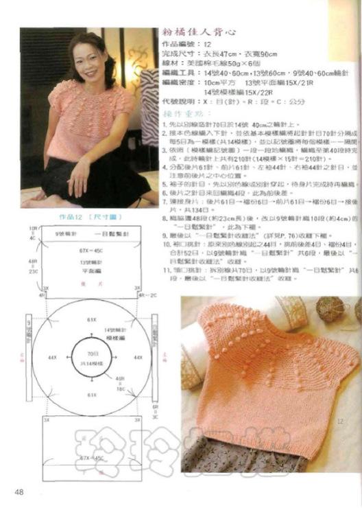 Вязание реглана от горловины круглые кокетки