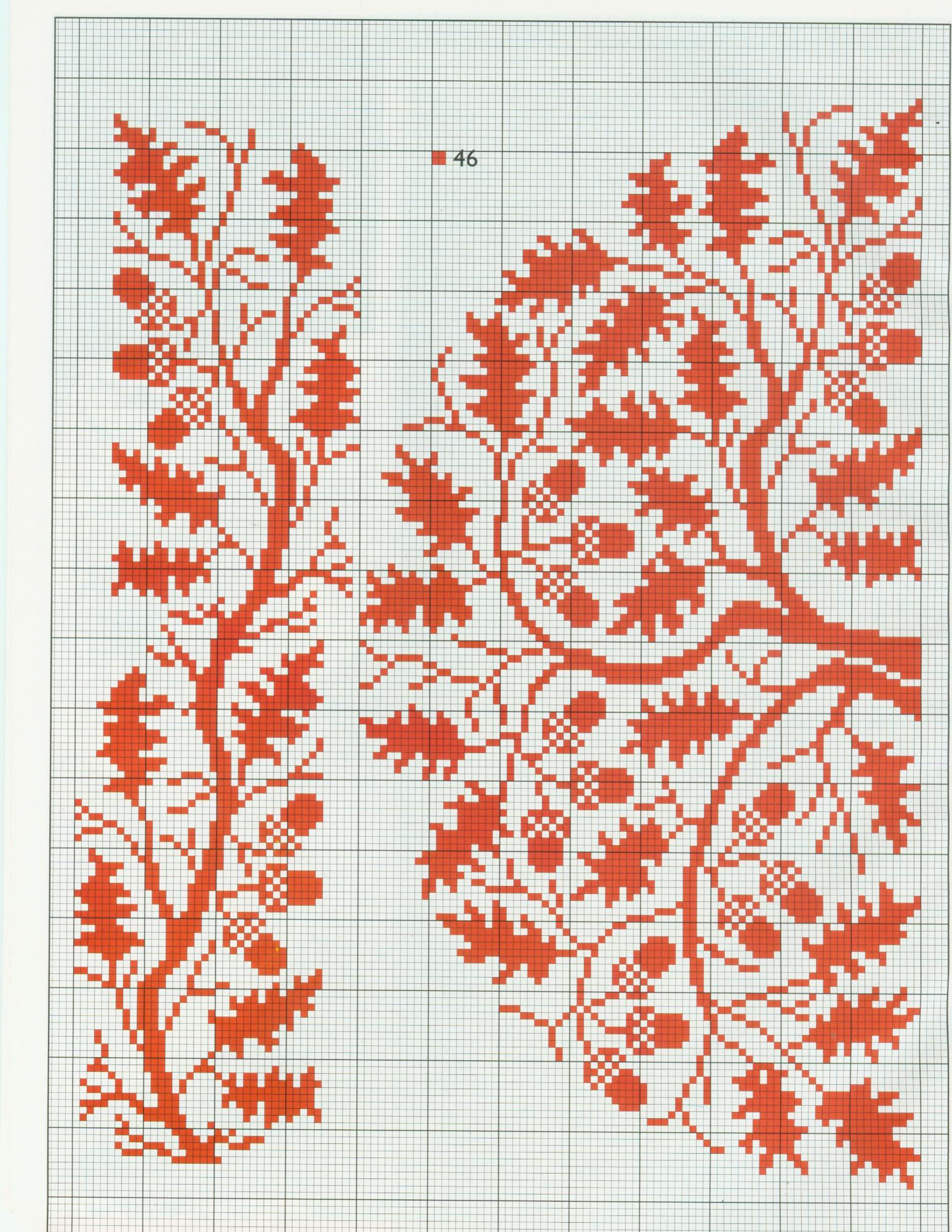 Вышивка крестом листочек