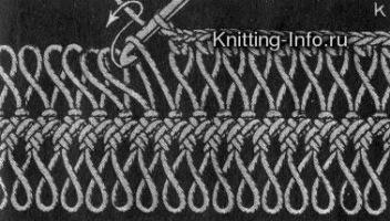 Вязание на вилке.  Схемы,модели.