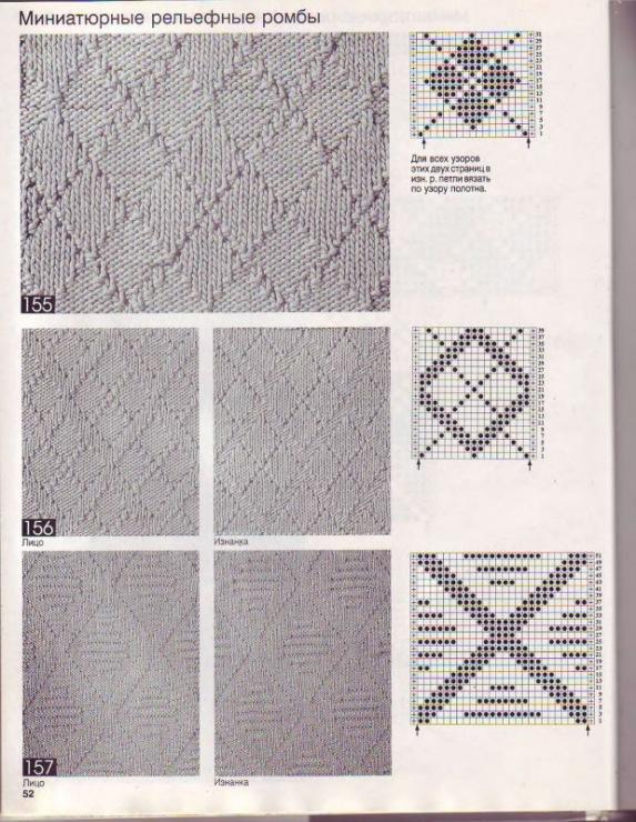Узоры вязания спицами ромб. вышивка схемы крест- вышивка крестиком риолис подушки и двойной жаккард машинное вязание