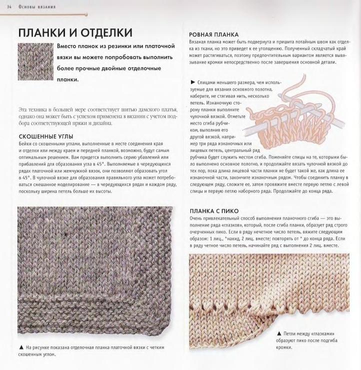 Кромка при вязании спицами 781
