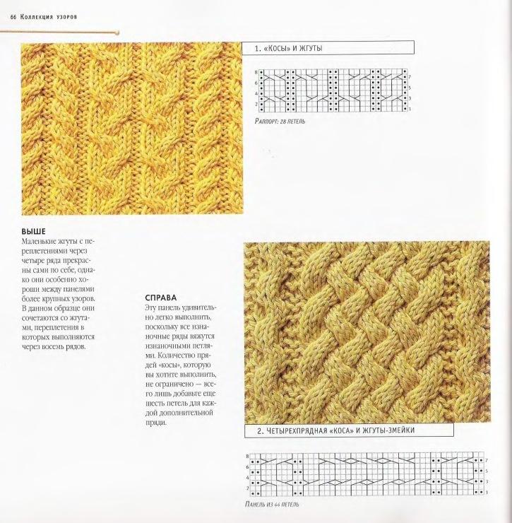 вязание спицами узор плетенка с косами