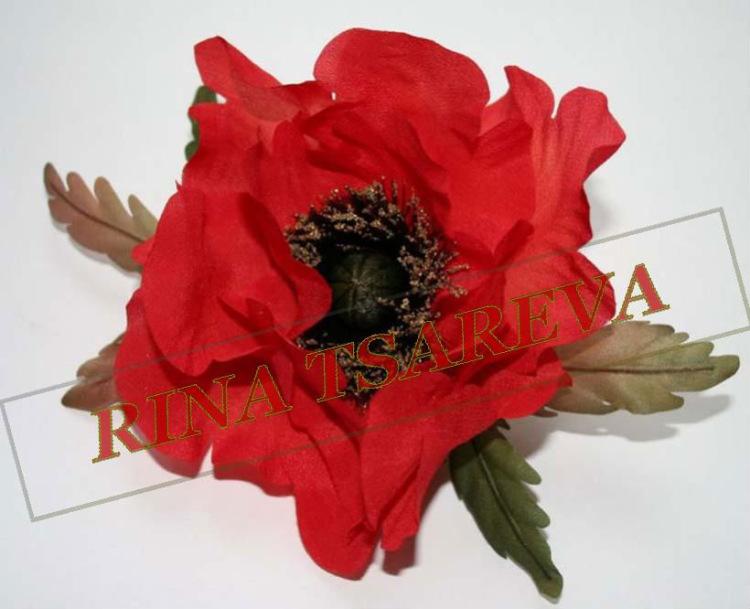 Цветок мак из ткани своими руками фото и