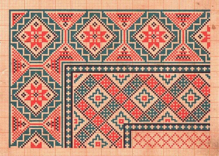 Узоры и орнаменты в русской вышивке 402