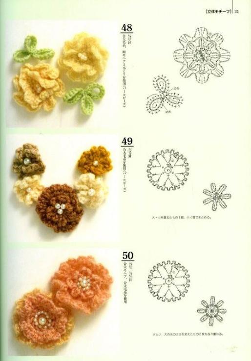 Вязание крючком - вязанные цветы, розы и лилия своими руками, схема и
