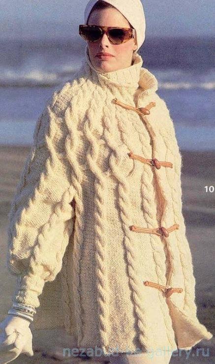 Вязание для женщин. . Женские пальто вязаные крючком и спицами.