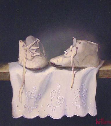 """Схема вышивки  """"Детские туфельки """": схема."""