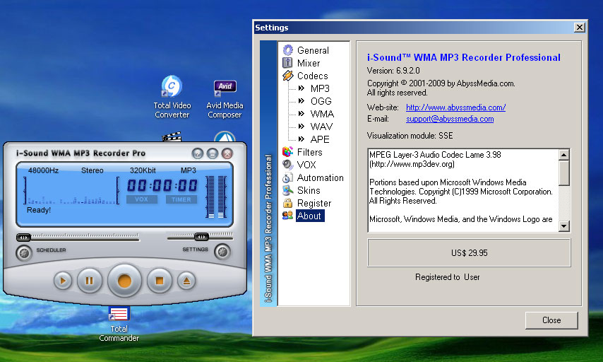 Cкачать торрент Abyssmedia - i-Sound WMA MP3 Recorder Professional 6.9.2
