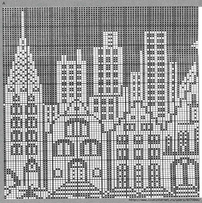 Жаккард схема для вязания 793