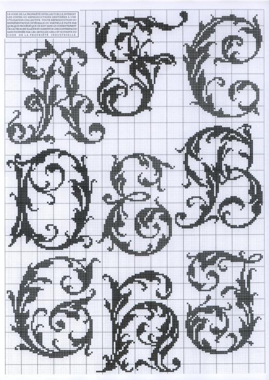 Монограмма русского алфавита вышивка
