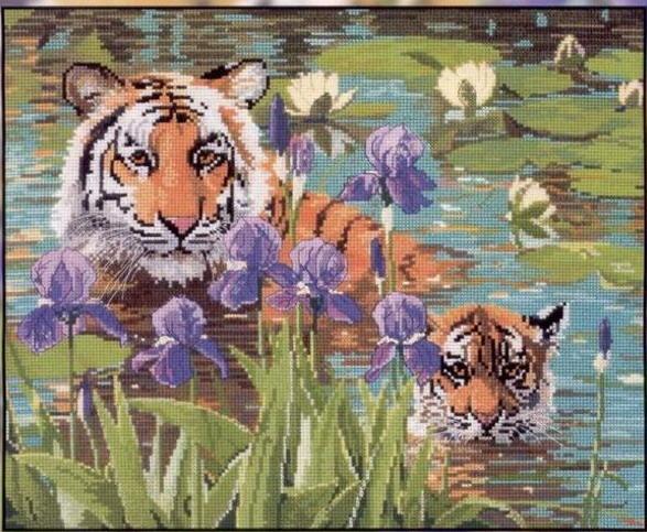 Бесплатно скачать схемы тигров можно.  Часть 2. Часть 3. Часть 4. ПАРОЛЬ НА АРХИВ: rukodelnitsa.info.