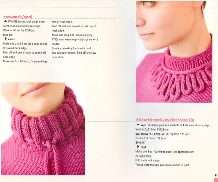 Вязание воротников для пуловеров 16